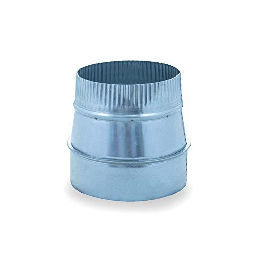 Reducción de acero galvanizado para sistemas de ventilación y extracción, chimeneas y estufas de leña y pellet, autoconectable (300-250 mm)