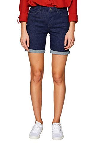 edc by ESPRIT Damen 029CC1C004 Shorts, Blau (Blue Rinse 900), W29(Herstellergröße: 29)