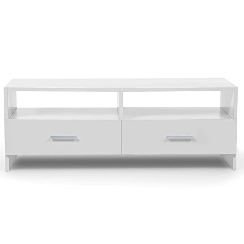 IDMarket - Meuble TV FALKO bois blanc