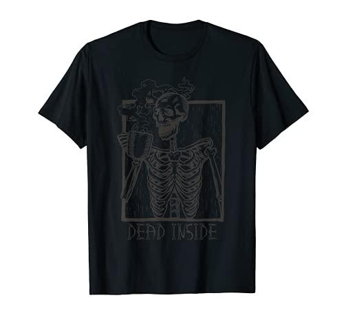 Dead Inside Skeleton Coffee T-Shirt