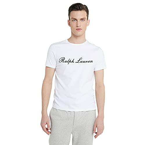 Polo Ralph Lauren Camiseta Stretch Cotton para Hombre (L, White)