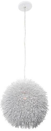 Urchin 1-Light Pendant - White Finish