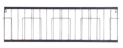 PEGANE Porte-revues en métal Noir, H 32 x L 103.5 x P 5.5 cm