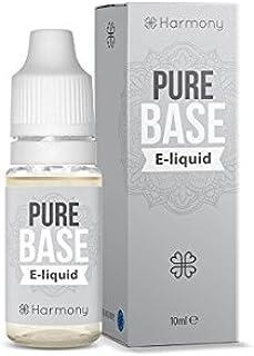 Harmony E-líquido de CBD (más de 99% pureza) - Pure Base - 300 mg CBD en 10 ml - Sin Nicotina