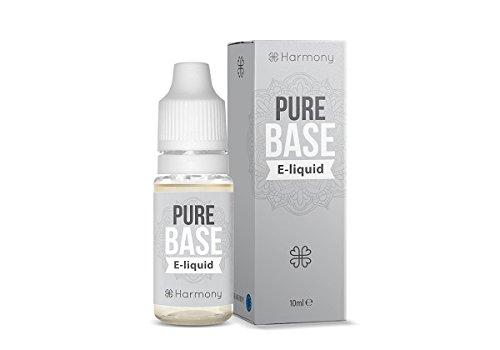 Harmony E-líquido de CBD (más de 99% pureza) - Pure Base - 1000 mg CBD en 10 ml - Sin Nicotina