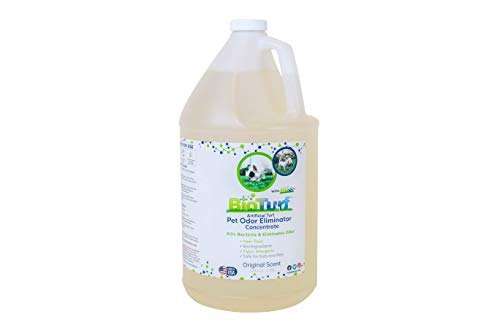 BioTurf BioS+ Artificial Turf Grass Concentrate Enzyme Cleaner and Pet Odor Eliminator - Removes Odors and Bacteria - Organic, Non-Toxic, Eco-Friendly (1 Gallon)