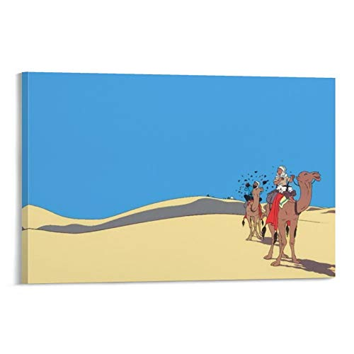 DRAGON VINES Póster de The Adventures of Tintin Belgium Tintin Reportero Snowy Humor Comics Póster de pared de 30 x 45 cm