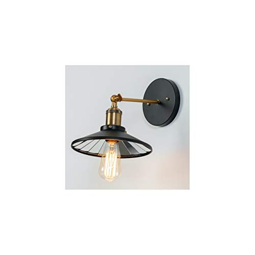 KOSILUM - Applique Murale Vintage avec Miroir Réfléchissant - Velina - Lumière Blanc Chaud Eclairage Salon Chambre Cuisine Couloir - 1 x 60W - - E27 - IP20