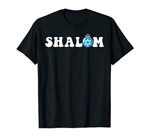 Shalom Hanukkah Bush Ornament Tee