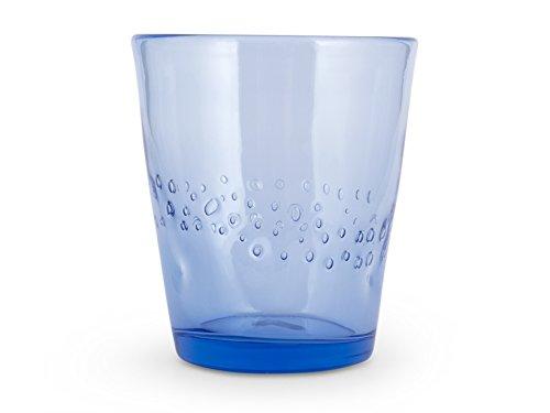 H&H Fiji Set 12 Bicchieri, Vetro, Colori Assortiti, 340 ml