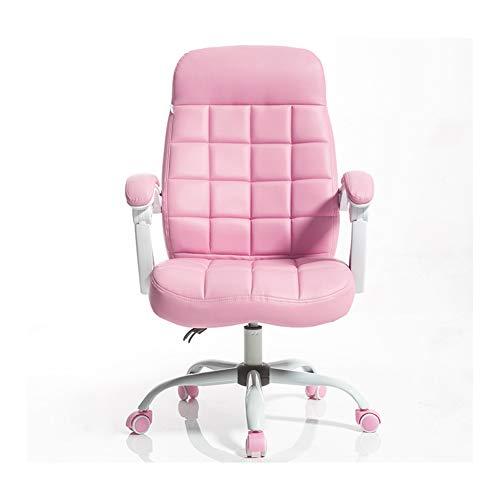 Sillas, sillas de oficina para computadora,Silla reclinable ergonómica para computadora de oficina, silla giratoria de juego de deportes electrónicos de altura ajustable, con reposapiés y cojín lu