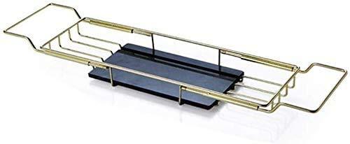 Cvghnfk Estante de baño Autoportante estantes de baño toallero Apoyo de baño Estante de bañera Oro Placa de mármol Superior de Acero Inoxidable telescópica Plataforma Multifuncional for toalleros