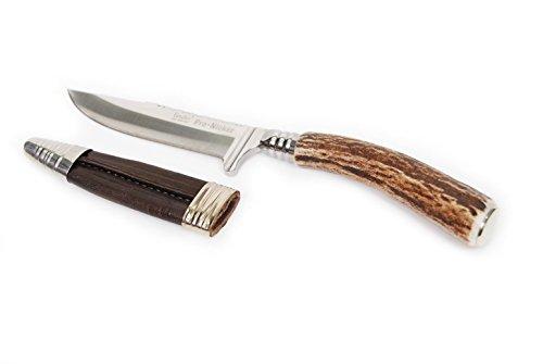 kaiserkindt. Trachtenmesser für die Lederhose, Jadmesser, Hirschfänger, Echthorn, Gravurplatte, Edelstahlklinge 9cm (Horn)
