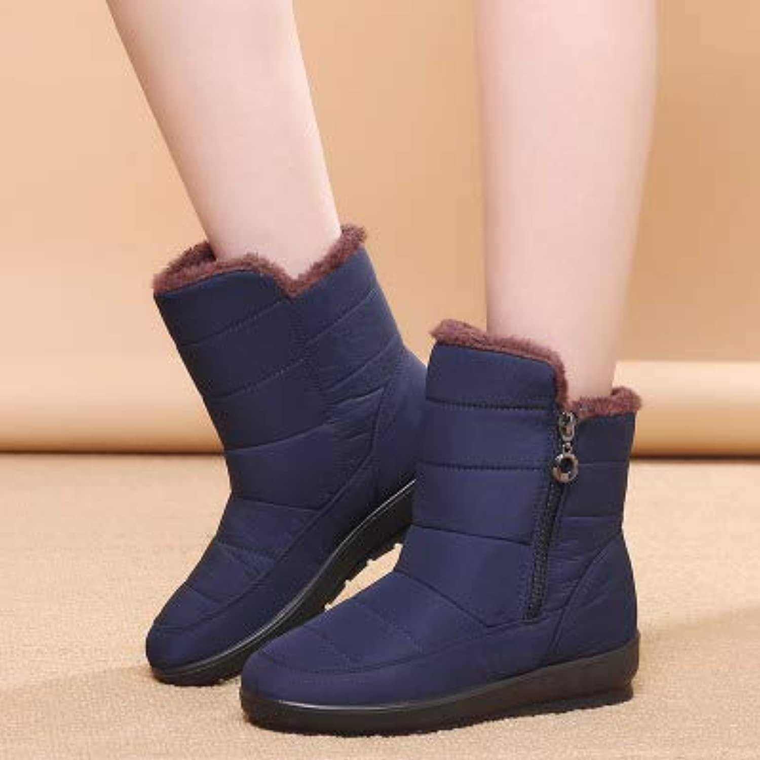 DDL- Snow Boots   Snow Boots Winter Warm Non-Slip Waterproof Women Boots Mother shoes Casual Winter Autumn Boots Female shoes Plus Size 35-42