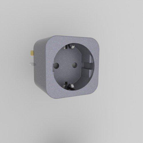 Enchufe deslizante schuko Plata, Modelo C, F (España, Alemania ...): Amazon.es: Electrónica