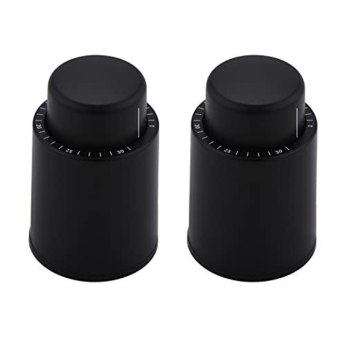 Yolispa 2 Uds. Tapones para Botellas Tipo Prensa Tapón Reutilizable Al Vacío Mejores Regalos para Los Amantes