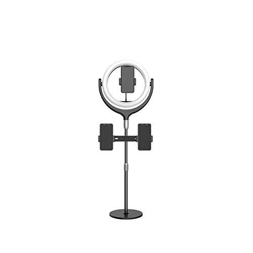 Helele Selfie Light Ringlamp, ringlicht, dimbaar, lichtmodi en helderheidsniveaus, met houder voor selfie Live Stream YouTube videoschooting make-up Vlog camera