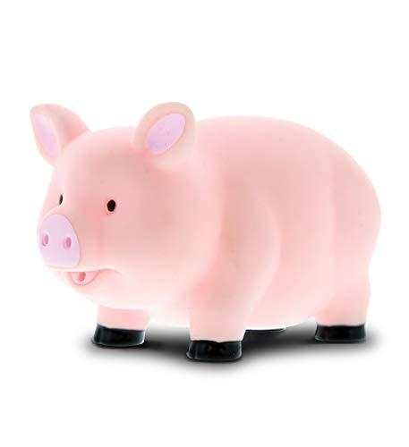 DolliBu Pig Bath Buddy Squirter - Floating Pink Pig Rubber Bath Toy  Fun Water Squirting Bathtime Play for Toddlers  Cute Farm Barn Animal Toy for The Bathtub  Beach  & Pool for Girls & Boys