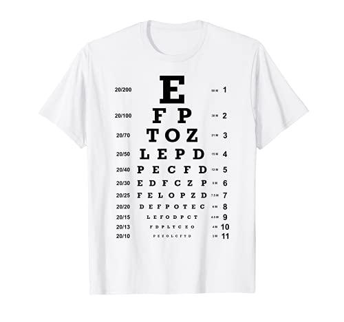 Augenoptiker Sehtest I Augenarzt Sehtafel Bild I T-Shirt