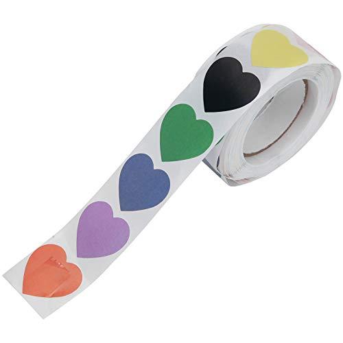 Les-Theresa Calcomanías adhesivas en forma de corazón para DIY Bloc de notas Bloc de notas de regalo Papelería
