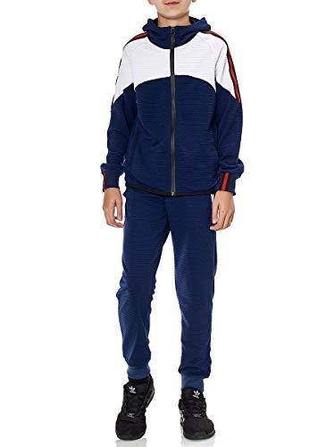 XRebel Kinder Junge Jogginganzug Sportanzug Modell W26 (Dunkelblau, Gr.10(128~134))
