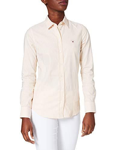 GANT Damen Stretch Oxford Banker Shirt Bluse, SOLAR Power Yellow, 44