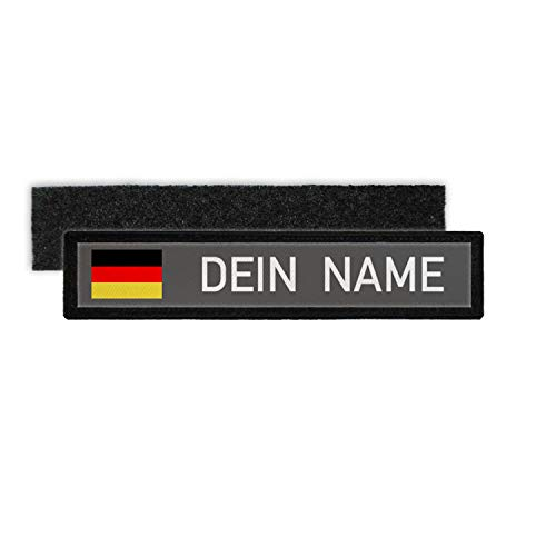 Copytec Germany Name Plate Patch with Name German Army Police Fire Brigade #24346