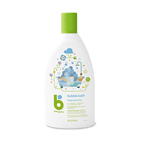 BabyGanics Bubble Bath Fragrance Free 20 Ounce