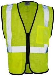 ML Kishigo 1537 Double Pocket Mesh Vest - Yellow/Lime Small (6 Units)