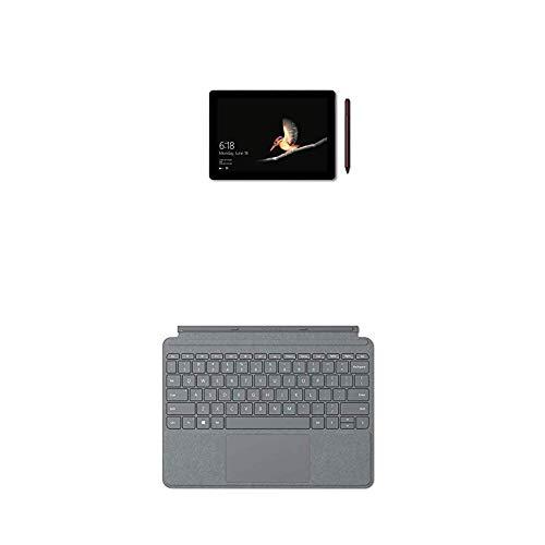 Microsoft Surface Go, 10', 4Go RAM 64Go eMMC + Type Cover Signature Surface Go Platine (Alcantara) AZERTY