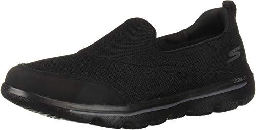 Skechers Performance Go Walk Evolution Ultra-Reach, Zapatillas sin Cordones Mujer, Negro (BBK Black Textile/Trim), 38 EU