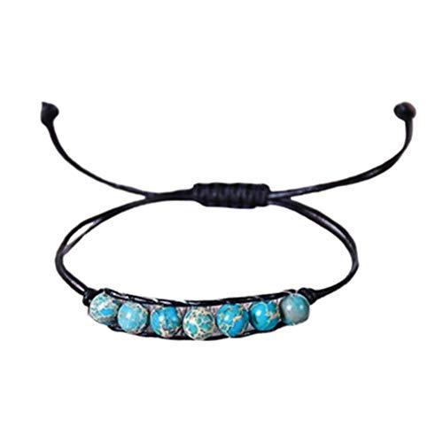KANKOO Bracelet for Men Stone Bracelet Balancing Beaded Bracelet Healing Beaded Bracelet Winding Bracelet Natural Stone Bracelet Reiki Beaded Bracelet 2