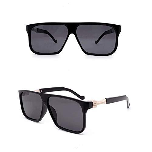 Gafas de sol cuadradas negras para hombres unisex de gran tamaño retro vintage 2020 Ibiza Festival