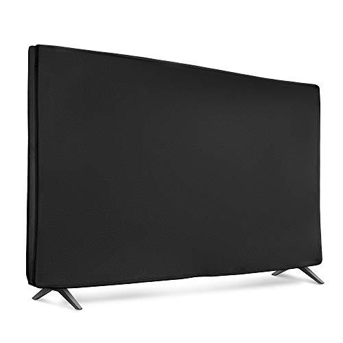 "kwmobile Funda Compatible con Monitor 40"" TV - Cubierta Protectora Textil para Pantalla - Negro"