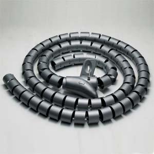 InstallerParts 20mm Spiral Cable Wrap Desktop Computer Cable Management, Black (1.5M)