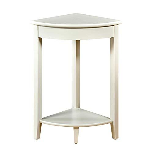 Table d'appoint Petite table basse en bois massif Table basse simple Salon Salon Table d'appoint canapé Table basse durable (Color : White, Size : 44x44x75.8cm)