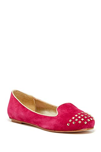 Elaine Turner Braxton Pink Suede Flats-Pink-7.5-M