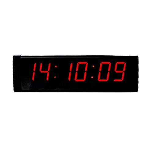 Temporizador Temporizador de entrenamiento de alta aptitud Control remoto Gimnasio LED Reloj de temporizador de intervalo interior digital con control remoto Negro Adecuado para una variedad de ocasio