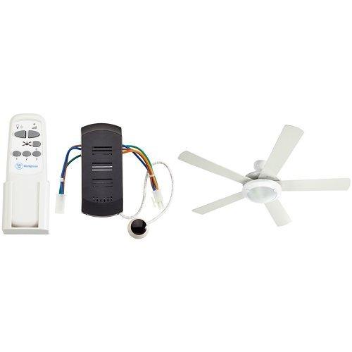 Westinghouse - Ventilador de techo blanco + mando a distancia por infrarrojos