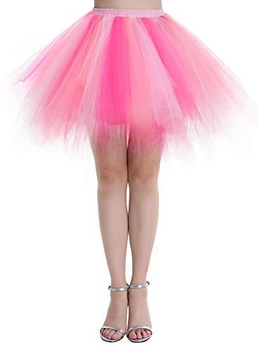 Dressystar Falda de tutú de tul para mujer de la década de los años 50 (15 colores), Todo el año, Asimétricos, Mujer, color Rosa coral, tamaño 36