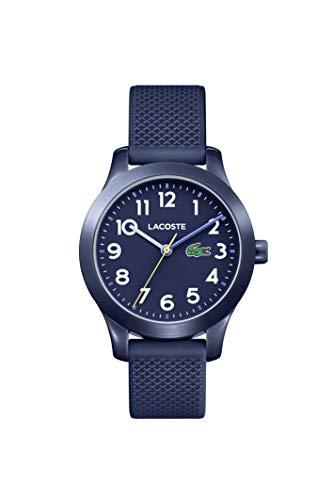 Lacoste Kids' TR90 Quartz Watch with Rubber Strap, Blue, 14 (Model: 2030002)