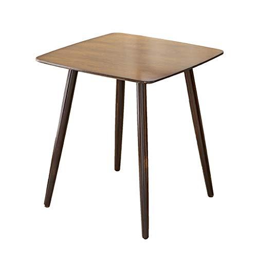 LICHUAN Table basse carrée en bois pour salon, couloir, chambre à coucher, jardin, terrasse, balcon, table d'appoint de salon (dimensions : 60 x 60 x 75)