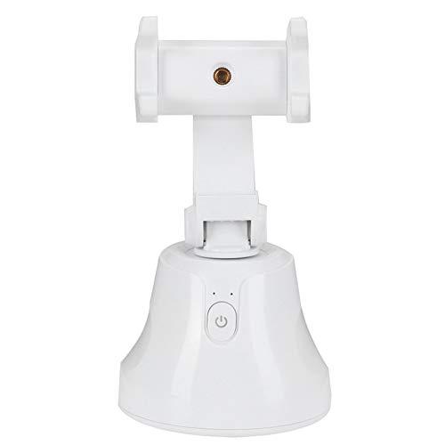 OIHODFHB Blanco 360 grados giratorio Ballhead Smart Face Object Tracking Teléfono Cámara Soporte para transmisión en vivo