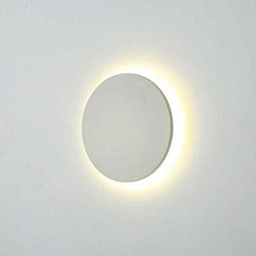 LED Wandleuchte Rund indirekt 3000K 9W Weiß Indoor/Outdoor (Weiß, 9 Watt)