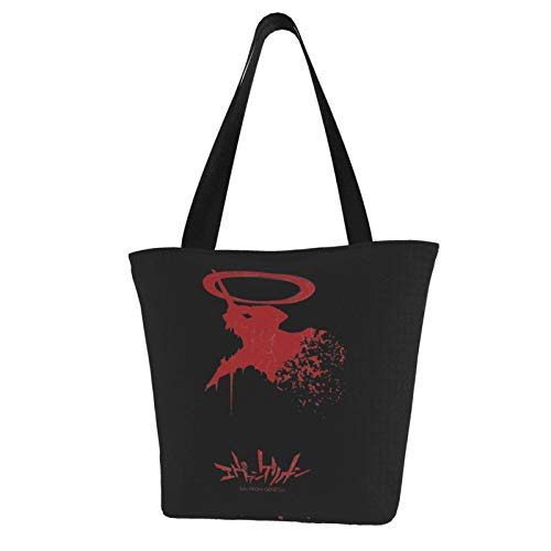 Eva Evangelion Sin From Genesis Canvas Tote Bag With Zipper And Inner Pocket Reusable Shopping Grocery Bags Cotton Shoulder Bags For Gift Fun Art Cosplay Travel