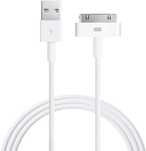 Apple MFi Certified iPad Cable, 6ft White 30 Pin to USB Cable High Speed Sync Charging Cord Cables for iPhone 4/4s, iPhone 3G/3GS, iPad 1/2/4, iPod(White)