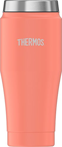 Thermos 16 Ounce Stainless Steel Travel Tumbler Peach