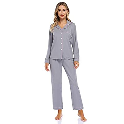 Clearlove Womens Pajamas Set Long Sleeve Sleepw...