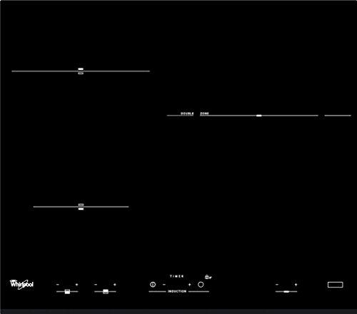 Whirlpool ACM 711/BF hobs - Placa (Integrado, Inducción, Negro, Tocar, Parte superior delantera, 7000W)