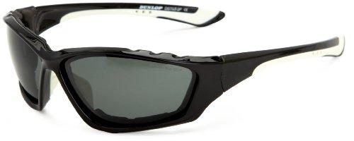 Dunlop Herren Polarised Sonnenbrille Gr. Einheitsgröße, Schwarz - Schwarz/Weiß